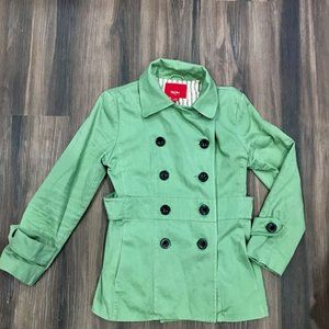 MOSSIMO Spring Green Lined Pea Coat | Size S